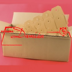 Etiquetas Manila Nº 5 60x119 caja x500 unidades perforadas