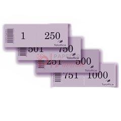 Precintos Cola De Ratón 24cm Numerados Correlativo X100u