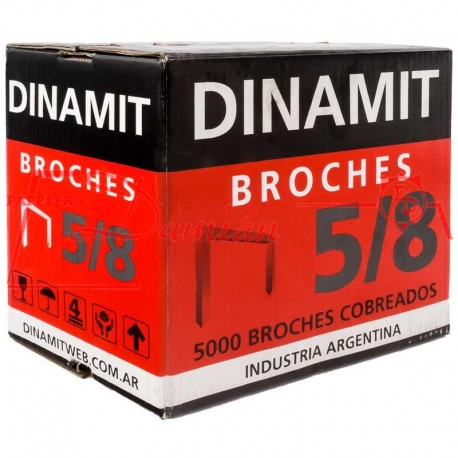 Broches Dinamit 5/8 Cobreados x5000u para Dinamit 90