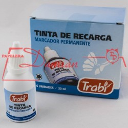Tinta marcador permanente indeleble Trabi Frasco 30cm3